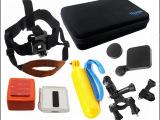 GOPRO hero 4/3+/3配件大号相机包头带自行车支架浮