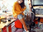 2014年最新韩国中长款毛衣女式宽松破洞麻花纯色毛衣