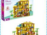 儿童益智玩具高档次拼装模型正版益智积木城堡1000块积木