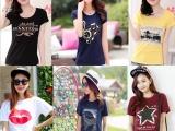 4元夏季新款女式服装 韩版圆领女装短袖套头T恤 特价批发