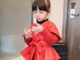 贝秀贝2015秋装新款糖果色单排扣女童针织袖夹克D-0885