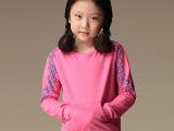 2014秋装品牌韩版圆领长袖卫衣中小童装 袖子印花口袋上衣