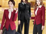 女职业装批发办公室美容服短袖小西装套裙工作服校服工装工衣制服