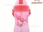 【伙拼】新款kitty猫塑料吸管水杯KT猫运动杯儿童水杯批发3633