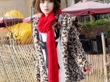 实拍 2014新款韩版女时尚豹纹外套皮草毛毛