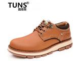 新款系带大头皮鞋男鞋 头层牛皮工装鞋手工缝线牛皮单鞋男士皮鞋