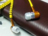 厂家直销 金属拉链 入耳式 耳机 金属 中性通用手机耳机线