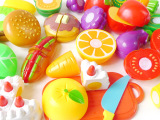 吸板装水果切切看 儿童过家家厨房玩具 仿