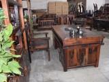 厂家直销船木家具老船木茶桌椅组合旧船木茶台古典船木茶几