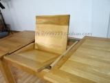 橡木餐桌 实木拉伸桌 伸缩餐桌 吃饭桌子