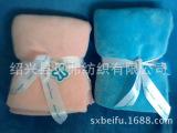 5公分色丁包边粉色 蓝色珊瑚绒/法兰绒毛毯 婴儿色丁包边毯子