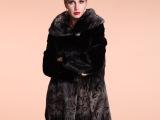 华歌利娅新款时尚皮草优质进口潮流皮草热卖欧美皮草外套FY-022