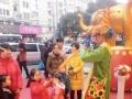 开业气球拱门宝宝宴气球布置泡泡秀魔术泡泡秀