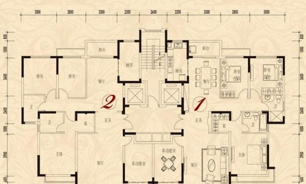 恒大华府171平超大4室+诚意出售220万+全套 家具!!
