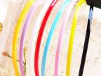 韩版4mm宽头扣饰品批发 超可爱 糖果色珠光发箍,可爱头箍