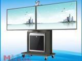 美刚专业提供 大尺寸高品质电视机推车 环保型双屏电视机推车