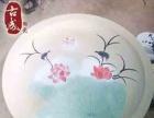 酒店海鲜大盘 定制陶瓷纪念盘 装饰盘定制