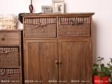 外贸原单~美式田园风格家具~简约实木鞋柜储物柜收纳柜 G104烤