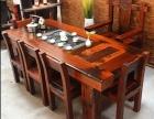 老船木茶桌 原生态户外内会客茶台沉船木茶几 古船木茶桌椅组合