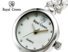 RC罗亚克朗镶钻钢带女士珠宝手表