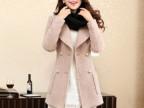 2014年秋冬时尚新款毛呢外套 呢子大衣外套 大码呢大衣女装上衣
