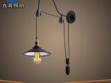 工业复古美式壁灯 欧式仿古创意客厅餐厅卧室灯宜家伸缩升降壁灯