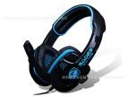 正品行货 赛德斯SA708游戏耳机 头戴式电脑语音耳麦带麦克风CF用