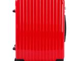 新款女式商务登机箱 银色万向轮拉杆箱 超轻PC材质旅行箱24寸