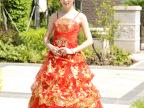 2014红言新款 高档红色韩版吊带齐地抹胸婚纱 新娘结婚礼服