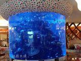 无锡江阴鱼缸定制私人大型水族工程亚克力鱼缸