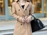 2013新款韩版女装秋装修身OL气质双排扣立领毛呢外套呢子828