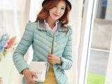 2014新款韩版羽绒棉服女装外套  韩版修身显瘦普通款女式棉衣批