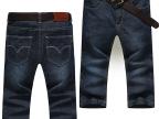 简臣夏季薄款牛仔短裤七分裤男牛仔裤修身直筒牛仔男裤