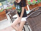 4元夏装新款时尚女装t恤女圆领短袖修身显瘦韩范百搭上衣潮