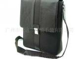 广东广州生产厂家定做男士手提单肩背 PU 真皮 休闲电脑公文包