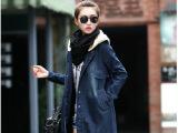 2014秋装新款欧洲站女装大牌气质宽松直筒中长款牛仔风衣外套