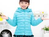 厂家直销  儿童羽绒服 童装冬装 宝宝加厚 连帽外套女童一件代发