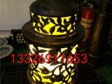 圆柱形柱头灯中式豪华花纹景观灯酒店门口柱头灯花园别墅草地灯