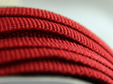 厂家直红色涤纶扁绳   样式颜色均可订制  红色箱包绳