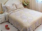 【蓝莲花】全棉绗缝被 三件套 空调被床上用品床单四件套