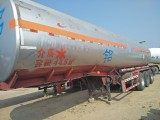 二手半掛油罐車鋁合金油罐車化工液體不銹鋼罐車