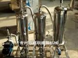 酒类多效过滤机 白酒催陈过滤机 三级酒类过滤设备