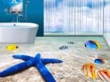 3D彩雕客厅电视背景墙 卫浴瓷砖海洋世界