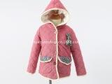 特批 童棉衣冬装新款2013韩版童装儿童棉服女童连帽花口袋棉袄