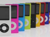 厂家批发彩屏苹果MP4 四代小瘦子 超薄4代苹果 MP3播放器1