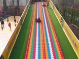 彩虹滑梯滑道租赁七彩滑梯滑道出租