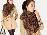 2013新款欧美风明星U型豹纹雪纺丝巾