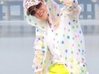 2014波点连帽彩色外套防晒衣 拉链防紫外线防晒服女夏