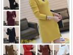 韩版加厚打底衫大码女装t恤秋冬新款包臀修身加绒长款女长袖6115