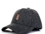 新款帽子男士韩版中老年秋冬呢子加厚保暖护耳棉帽户外棒球帽批发